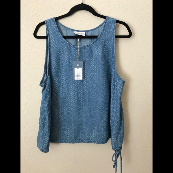 fb1aa3c7b3c0a Universal Thread Denim Printed Chambray Tank